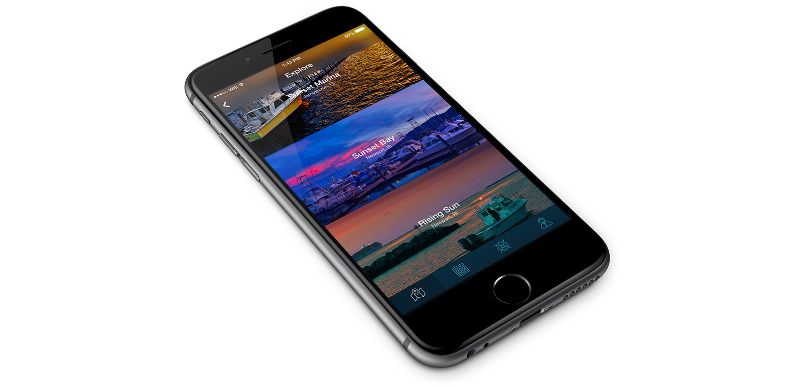 The Dockwa mobile app on an iPhone