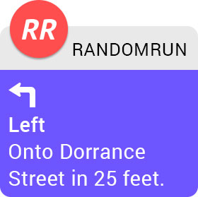 An Apple Watch turn notification in RandomRun