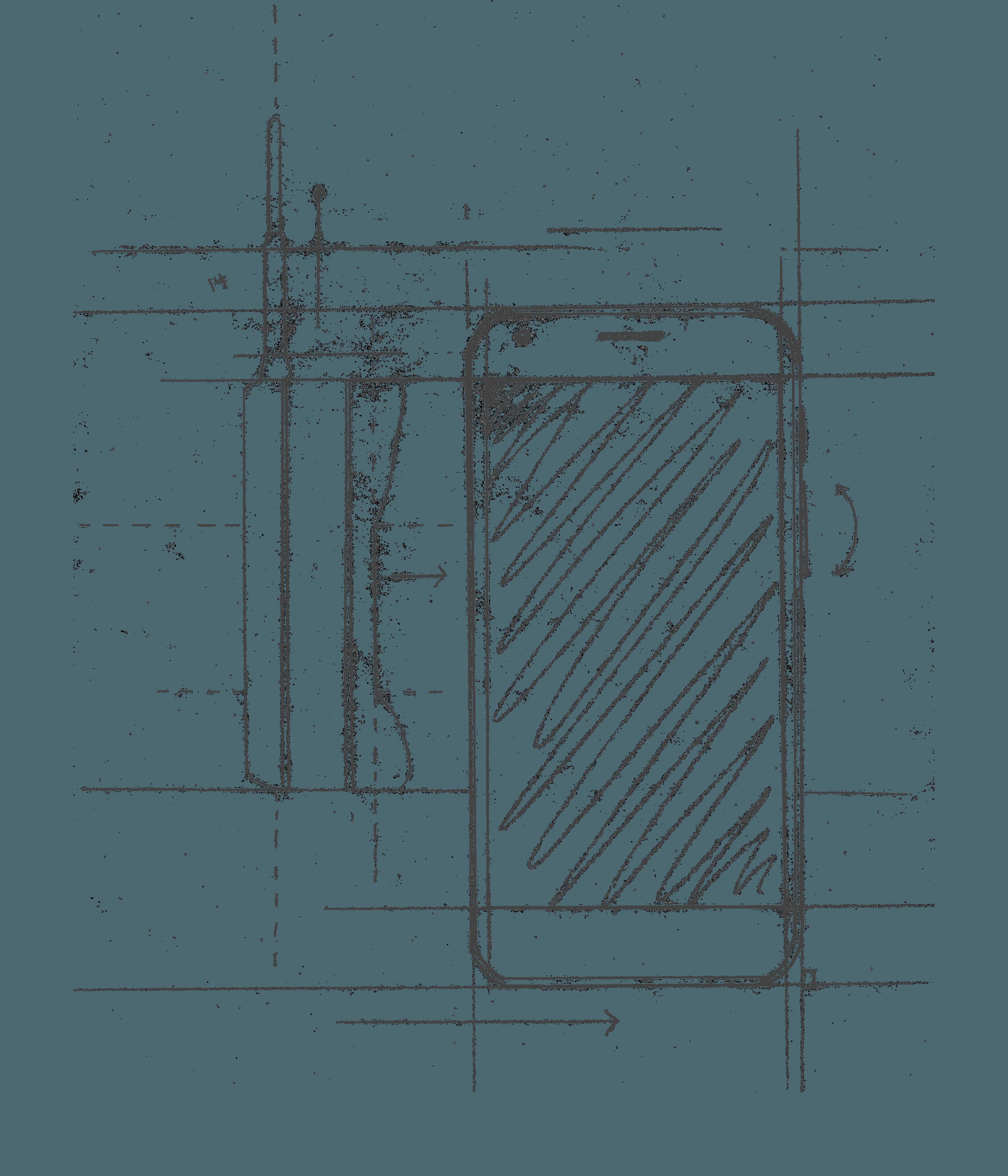 Brick phone and smartphone schematic sketch